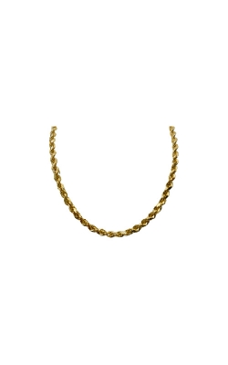 Albert's 10k Yellow Gold 28 In 4mm Diamond Cut Rope Chain product image