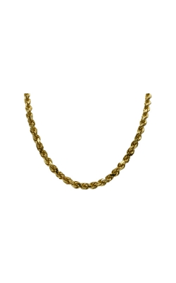 Albert's 14k Yellow Gold 22 In Diamond Cut Solid Rope Chain product image