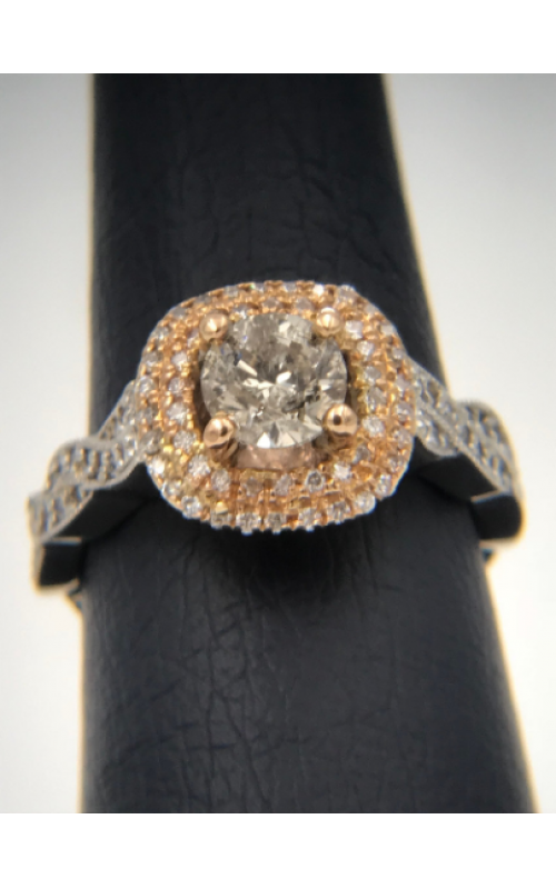 18k TT .90 Rd Center twisted engagement ring product image
