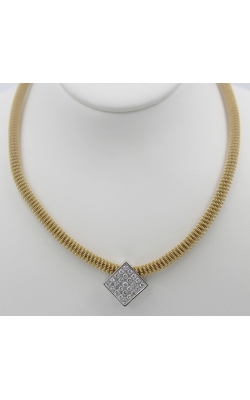 18K Y/G 1.00 CTW Diamond SLIDE Necklace product image