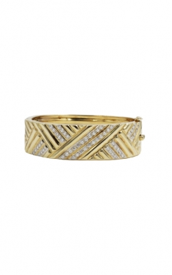 14k Yellow Gold & 2.32ctw G VS1-2 Diamond Bangle Bracelet product image