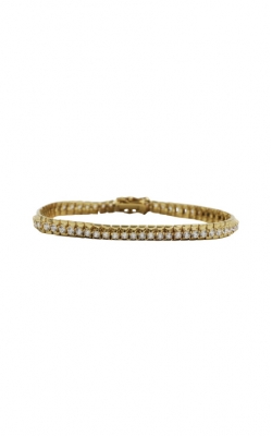 "14k Yellow Gold & 5.52ct CZ 7.25"" Bracelet product image"