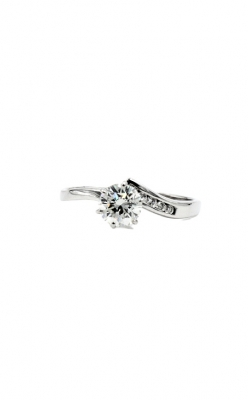 14k White Gold .77ct Round Diamond G VS2 .09 Mil Engagement Ring product image