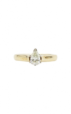 14K Yellow Gold & .59ctw Pear Shape I I1 Diamond Solitaire Ring product image