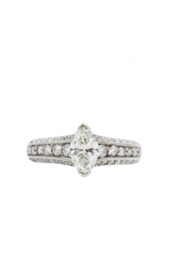 14k White Gold .81ct Marquise Shape I VS2 Diamond Engagement Ring product image
