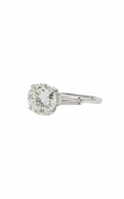 14k White Gold 2.25 Round K SI1 Engagement Ring product image
