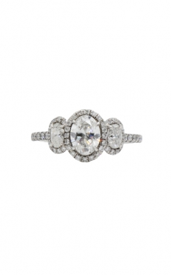 14k White Gold & .90ct D/SI1 Three Stone Diamond Engagement Ring product image