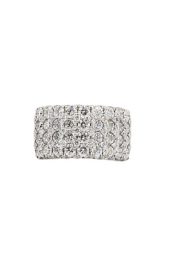 18K White Gold & 4.88ctw Round Diamond Anniversary Band product image