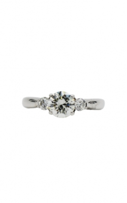 14k White Gold & 1.06 Round Shape H/SI2 Diamond Engagement Ring product image