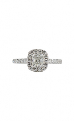 14k White Gold & .81 Cushion Shape G SI2 Diamond Engagement Ring product image