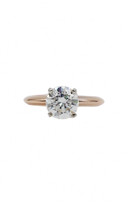 14k Rose Gold & 7.5mm Round Lab Moissanite Engagement Ring product image