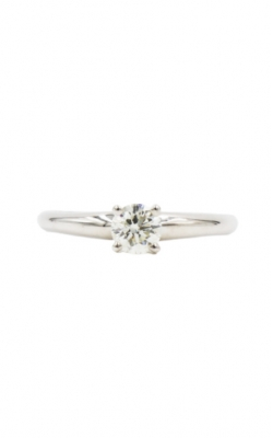 14k White Gold 3/8 Round J/K/L I1-2 Diamond Solitaire Engagement Ring product image