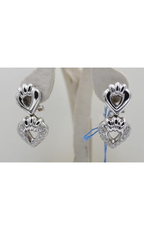 14K W/G .60 CTW diamond HEART EARrings product image