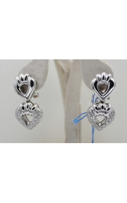 14K W/G .60 CTW diamond HEART EARrings product image