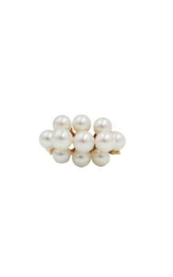 14k Yellow Gold Pearl Cocktail Ring product image