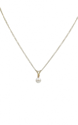 14k Yellow Gold 5mm Pear & Diamond Pendant product image