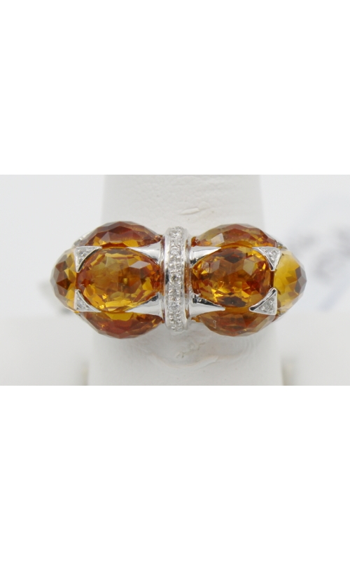 18K W/G 8.57 ct CITRINE/.06 DIAMOND fashion ring sz 7 product image