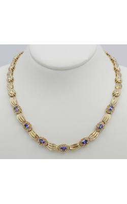 14K Y/G 1.75 Ct TANZanite/1.05 Cttw  Diamond Necklace product image