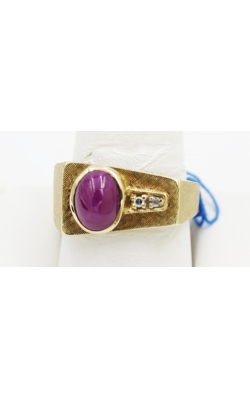 14K Y/G SYNthetic RUBY STAR RING Sz 9.5 product image