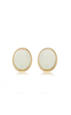 14k Yellow Gold Opal Studs product image