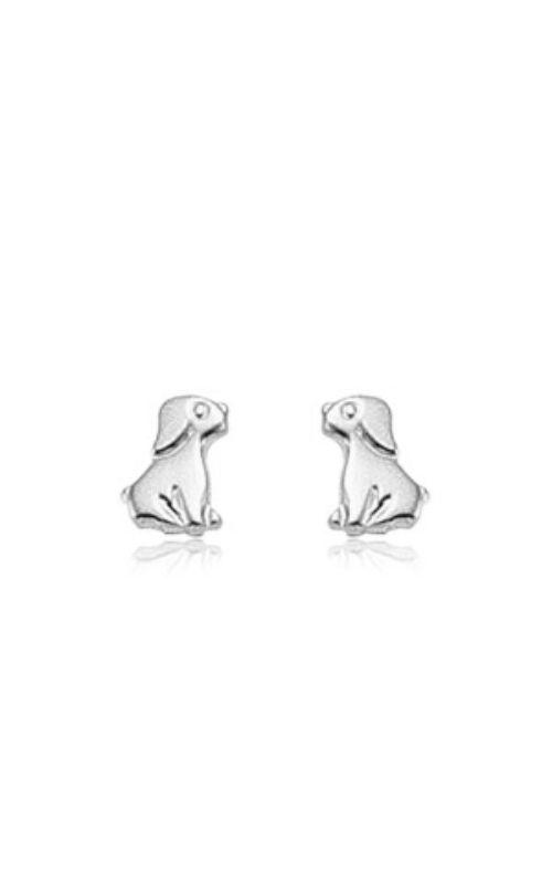 Albert's 14k White Gold Dog Earrings 02/066W product image