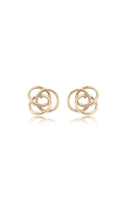 14k Yellow Gold Knot Earrings product image