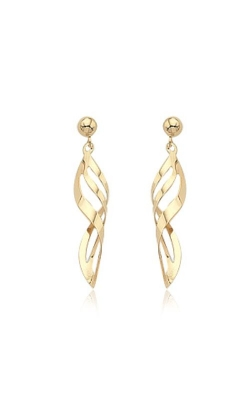 Albert's 14k Yellow Gold Pierced Twist/Ball Earrings 02/855 product image