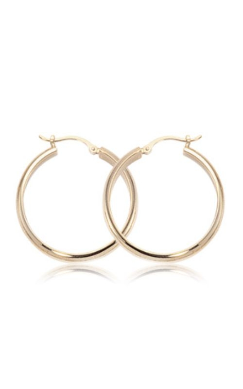 Albert's 14k Yellow Gold Large 1/2 Round Earrings 03/118 product image