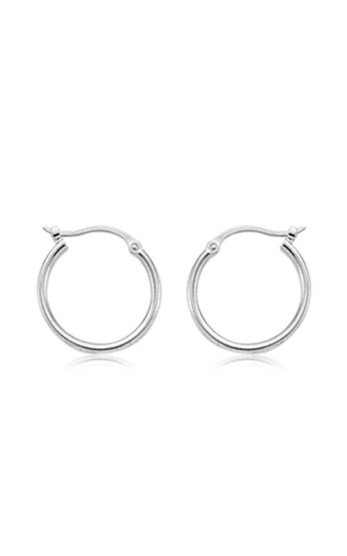 Albert's 14k White Gold Tube Hoop Earrings 03-350W product image