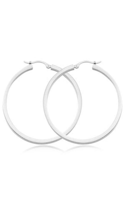 Albert's 14k White Gold 2x40mm Square Tube Hoops product image