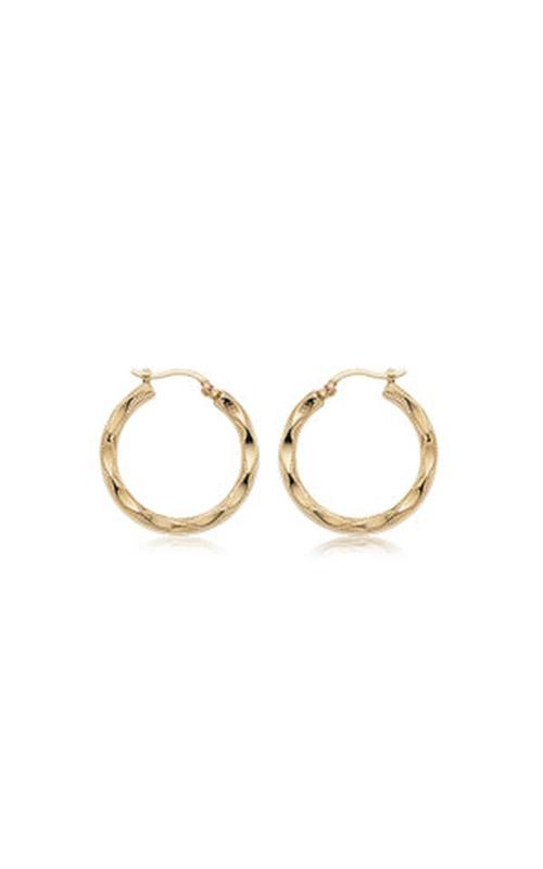 Albert's 14k Yellow Gold Small Fancy Hoop Earrings 04-230 product image