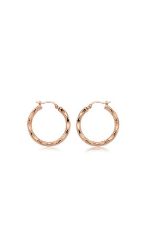 Albert's 14k Rose Gold Small Fancy Shell Hoops 04/230R product image