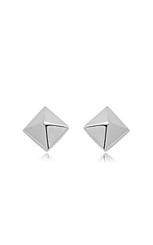 Albert's 14k White Gold 8mm Pyramid Post Earrings 04/481W product image