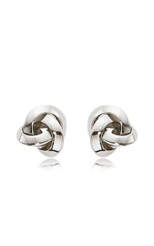 Albert's 14k White Gold Love Knot Earrings 12177WG product image
