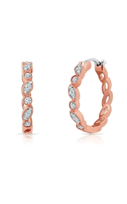 Albert's 10k Rose Gold 1/5ctw Diamond Hoop Earrings 2226170200P-MG product image