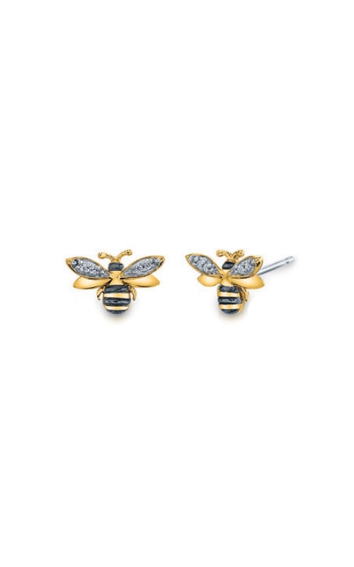 Albert's Sterling Silver and Gold Plated Bee Earrings 2227770027Y product image