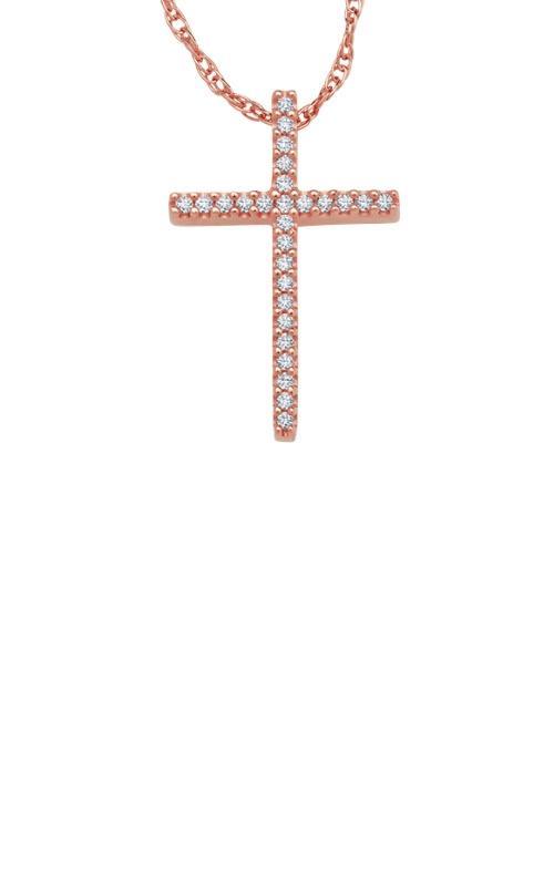Albert's 10k Rose Gold .10ctw Diamond Necklace 2424970100P-01 product image