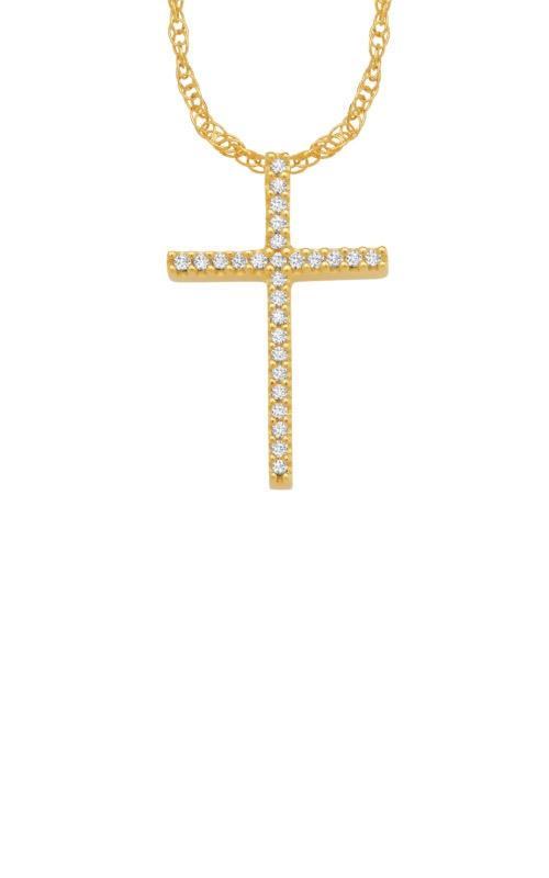 Albert's 10k Yellow Gold .10ctw Diamond Necklace 2424970100Y-01 product image