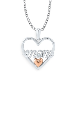 Albert's Sterling Silver & 10k Rose Gold Mom Pendant 2432010017W0P product image