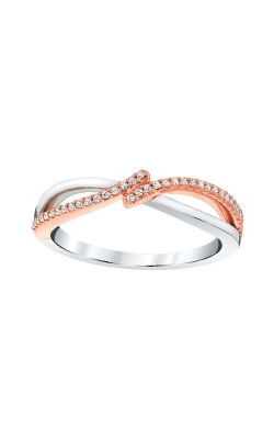 Albert's Sterling Silver And Pink Micron Diamond Promise Ring 2437490107P-01 product image