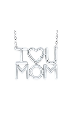 Albert's Sterling Silver I Love You Mom Necklace 2437830057W product image