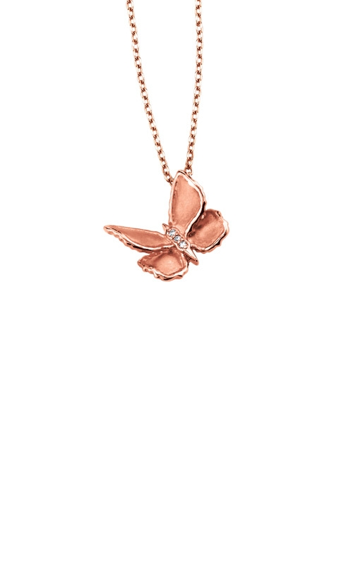 Albert's 10k Rose Gold Diamond Butterfly Necklace 2439800010P product image