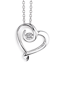 Albert's Sterling Silver .10ctw Diamond Heart Necklace 2442590107W product image