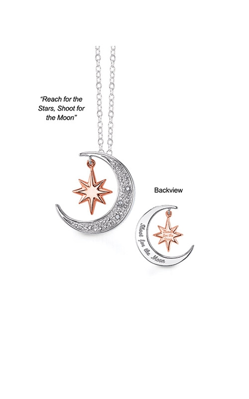 Albert's Sterling Silver Shoot For The Moon Necklace 2446190017P product image