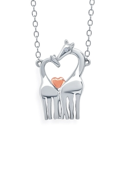 Albert's Sterling Silver Mom And Baby Giraffe Pendant 2446320017P-04 product image