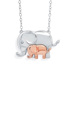 Albert's Sterling Silver Mom And Baby Elephant Pendant 2446410017M-03 product image