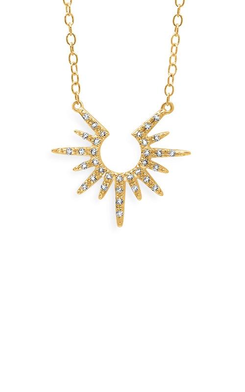 Albert's 10k Yellow Gold 1/10ctw Diamond Necklace 2447090100Y product image