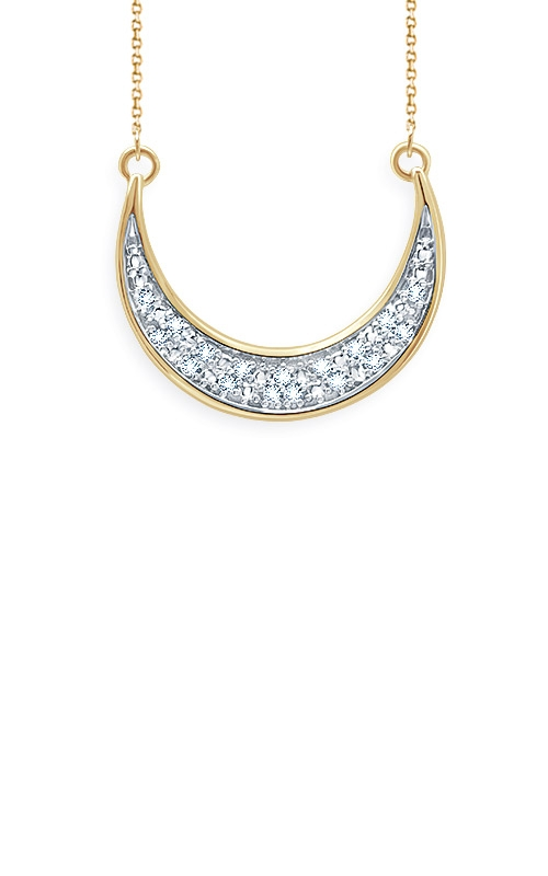 Albert's Sterling Silver and Yellow Micron Diamond Moon Necklace 2447100057Y product image