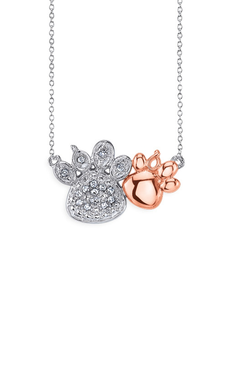 Albert's Sterling Silver and Pink Paw Pendant 2447120057P product image