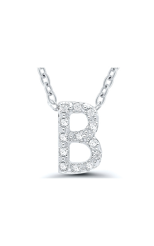 Albert's Sterling Silver .05ctw B Initial Necklace 244787005-B product image